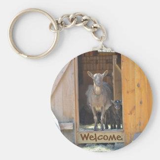 Ziegen-Schlüsselkette Schlüsselanhänger