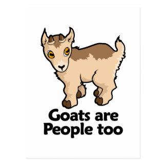 Ziegen sind Leute auch Postkarte