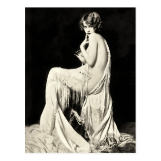 Ziegfeld Revuetänzerin-Postkarten Postkarte
