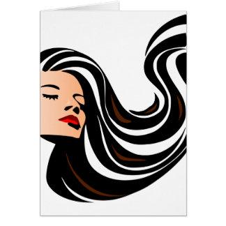Ziehen Sie meine Haarrückseite Grußkarte