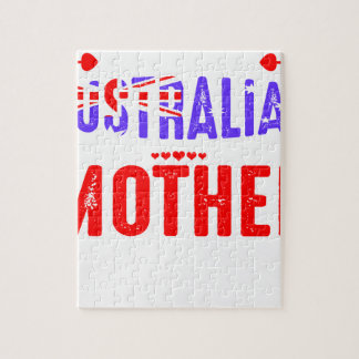 Ziehen Sie sich verrückten australischen Puzzle