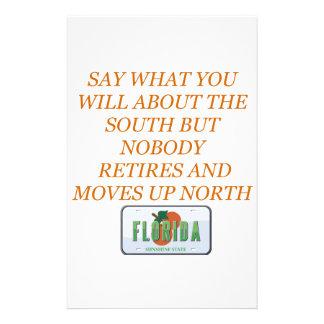 Ziehen Sie sich zu Florida und zum Süden zurück Briefpapier