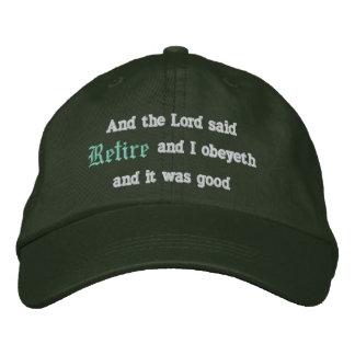 Ziehen Sie sich zurück Bestickte Kappe