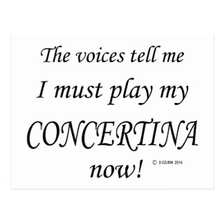 Ziehharmonika-Stimmen sagen müssen spielen Postkarte