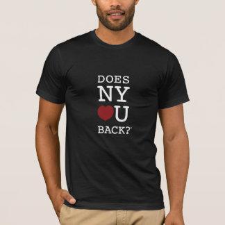 ZIEHT SICH NY [HERZ] U ZURÜCK? ® schwarze/dunkle T-Shirt