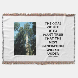 Ziel des Lebens ist zu den Pflanzen-Bäumen, die Decke