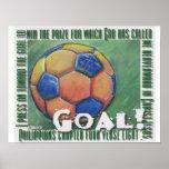 Ziel! Fußballplakat Posterdruck