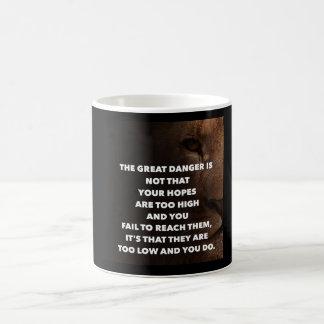Ziel hoch kaffeetasse