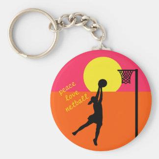 Ziel-tireur-Entwurfnetball-Zitat-Thema Schlüsselanhänger