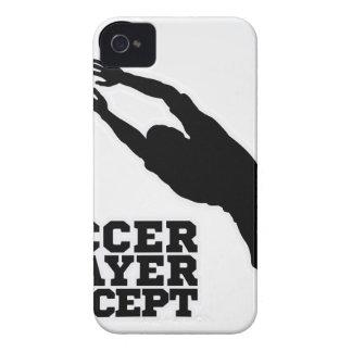 Ziel-Wächter-Fußball-Spieler-Silhouette iPhone 4 Cover