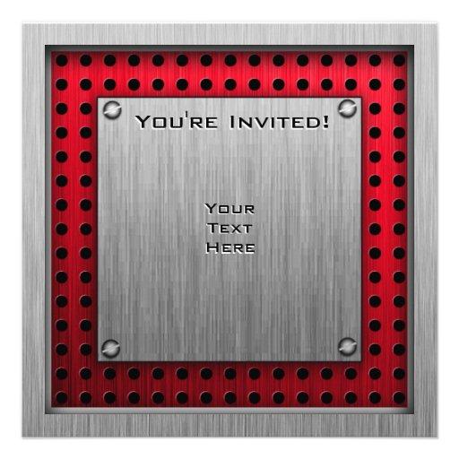 Zielflagge; gebürsteter Aluminiumblick Einladung