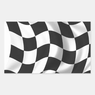 Zielflagge - Laufen der Flagge Rechrteckaufkleber