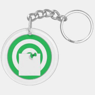 Zielscheibe mit Notizzettel Schlüsselanhänger