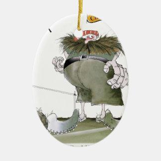 Zielwächter'Rottöne Keramik Ornament