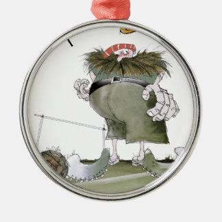 Zielwächter'Rottöne Silbernes Ornament