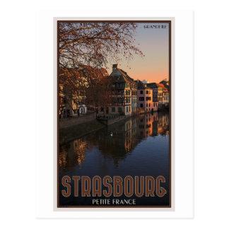 Zierlicher Frankreich Sonnenaufgang Straßburgs - Postkarte
