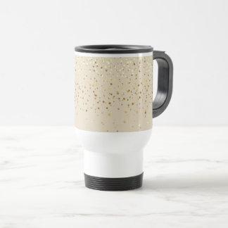 Zierlicher goldener Stern-Reise-Kaffee Tasse-Beige Reisebecher