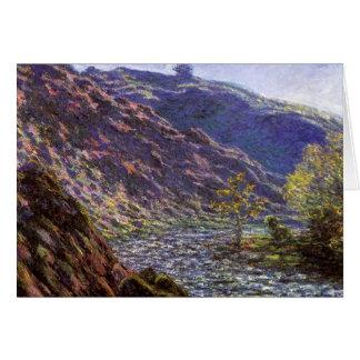 Zierliches Creuse, Sonnenlicht durch Claude Monet Karte