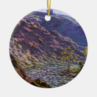 Zierliches Creuse, Sonnenlicht durch Claude Monet Keramik Ornament