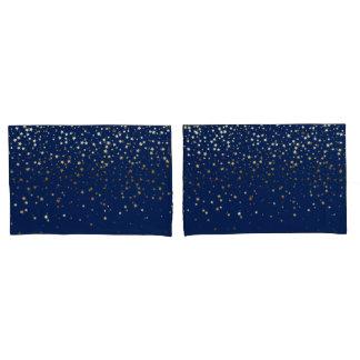 Zierliches goldenes Stern-Kissen-Hüllen-Tiefes Kissen Bezug