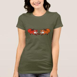 Zierliches T-Stück Fox-Paare T-Shirt