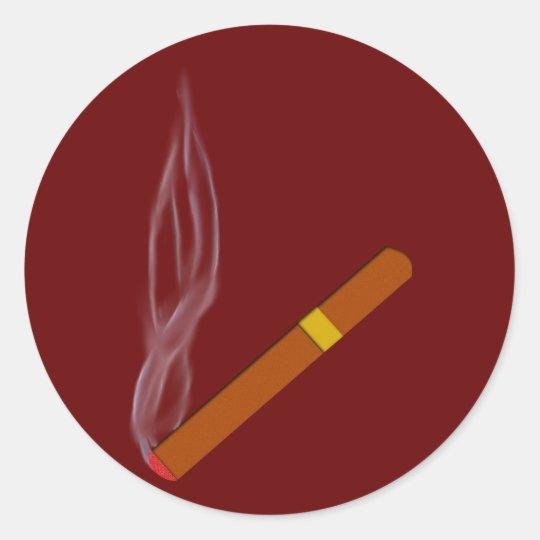 Zigarre cigar runder aufkleber