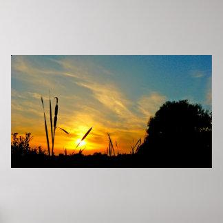 Zigarren am Sonnenuntergang Poster