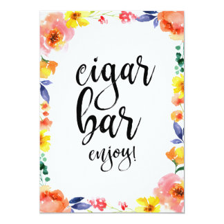 Zigarren-Bar erschwingliches Boho Karte