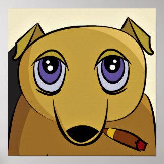 Zigarren-Hundeplakat Poster