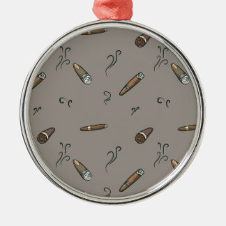 Zigarren-Muster Silbernes Ornament