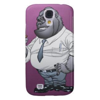 Zigarren-rauchender Geschäftsmann-Chef-Gorilla Galaxy S4 Hülle