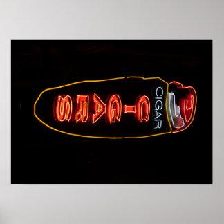 Zigarrenladen-Leuchtreklame-Plakat Poster