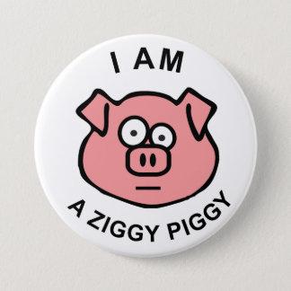 Ziggy Piggy Knopf Runder Button 7,6 Cm