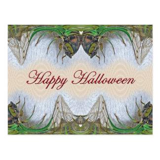 Zikaden-Einzelteile Halloweens Fantasmagorical Postkarte
