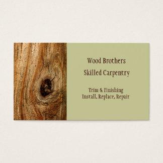 Zimmerei-Holzarbeit-Visitenkarte-Schablone Visitenkarte