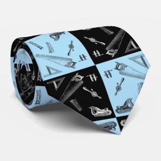 Zimmerei-Werkzeuge in den blauen und schwarzen Bedruckte Krawatten