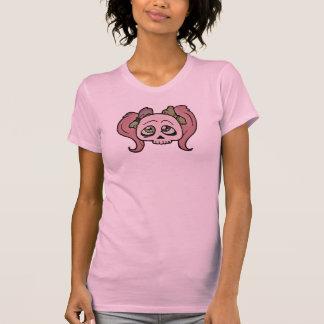 Zimt-Mädchen-Schädel T-Shirt