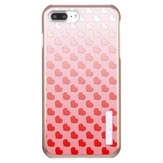 Zimt-Süßigkeits-Herzen rot und rosa Incipio DualPro Shine iPhone 8 Plus/7 Plus Hülle