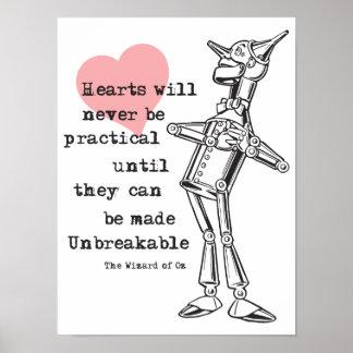 Zinn-Mann und unpraktische Herzen Poster