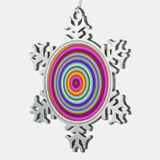 Zinn-Schneeflocke Goodluck Charme chakra Schneeflocken Zinn-Ornament