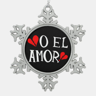 Zinn-Schneeflocke-Verzierung O-EL Amor Schneeflocken Zinn-Ornament