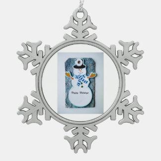 Zinn-Schneeflocken-Schneemann Schneeflocken Zinn-Ornament
