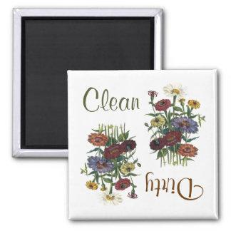 Zinnia-Blumen-Spülmaschinen-Magnet Quadratischer Magnet