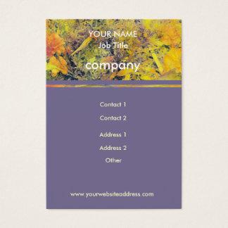 Zinnias u. Ringelblumen auf Lila Visitenkarte