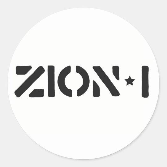 Zion-i einfach runder aufkleber
