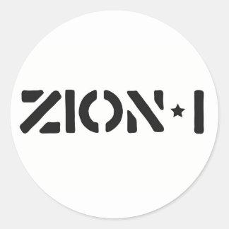 Zion-i einfach runder sticker