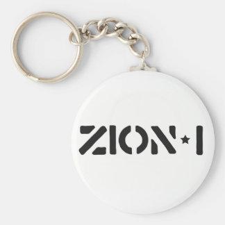 Zion-i einfach standard runder schlüsselanhänger