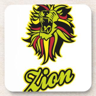 Zion. Iron Lion Zion HQ Farbe Edition Getränkeuntersetzer