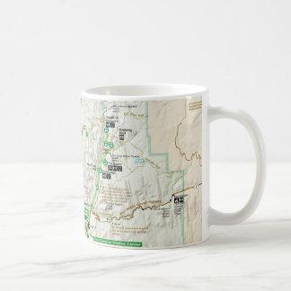 Zion Karten-Tasse Nationalparks (Utah) Kaffeetasse