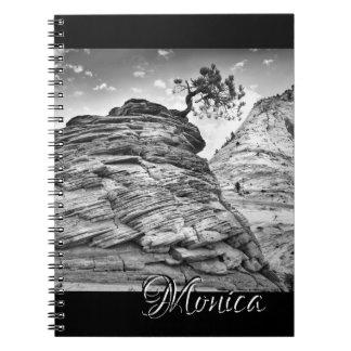 Zion Nationalpark-Bonsais-Baum-Foto personalisiert Spiral Notizblock